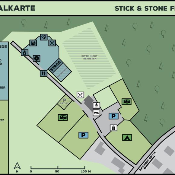 Festivalkarte und Infos zum Camping- und Zeltplatz